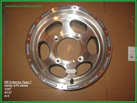 ITP C Series Type 7 utility ATV wheel 12X7 4/137 4+3