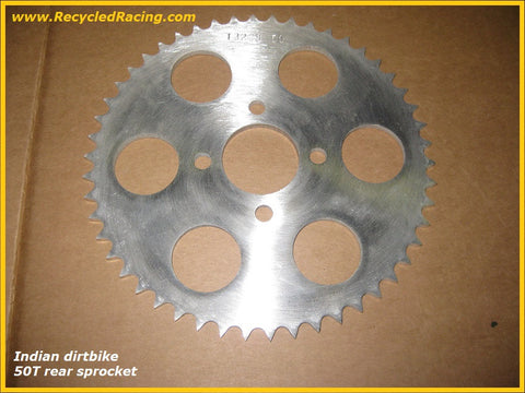 Indian 50 tooth aluminum rear sprocket