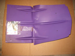 Holeshot skid plate Polaris Evolved chassis purple
