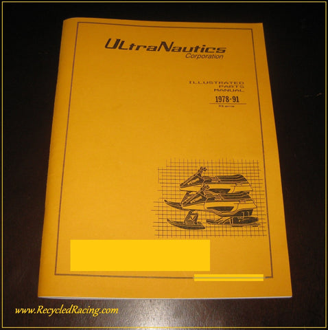 1978-1991 UltraNautics Wetbike Parts Manual