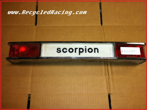 Scorpion snowmobile tail brake light
