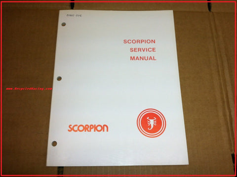 1979 Scorpion service manual Whip Sting