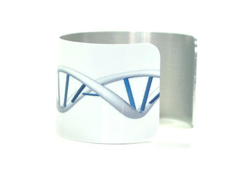 DNA Image - Aluminium Cuff Science Jewelry