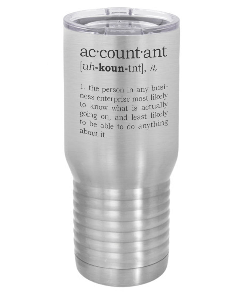 Silver Accountant Definition 20 Oz Polar Camel Travel Mug