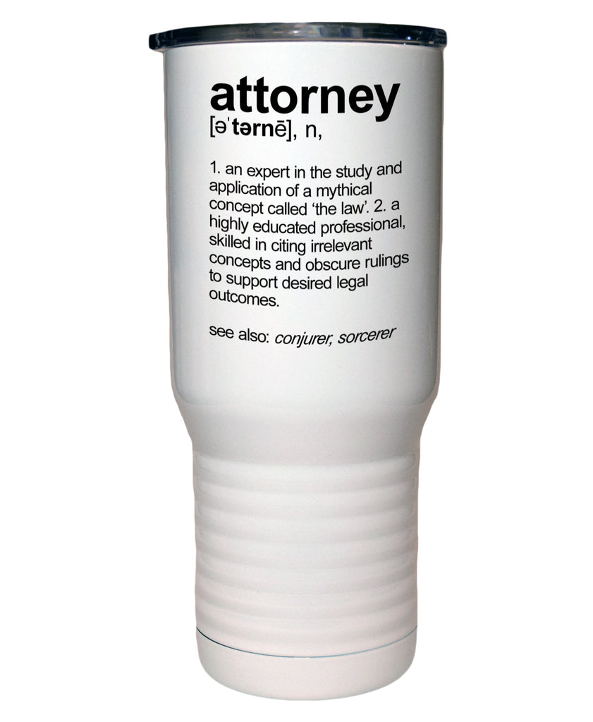 Attorney Definition 20 Oz Polar Camel White Travel Mug