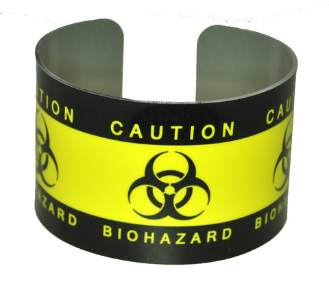 biohazard yellow warning tape cuff