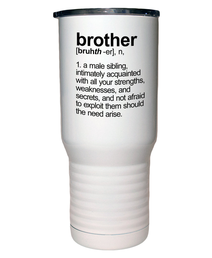 Brother Definition 20 Oz Polar Camel White Travel Mug