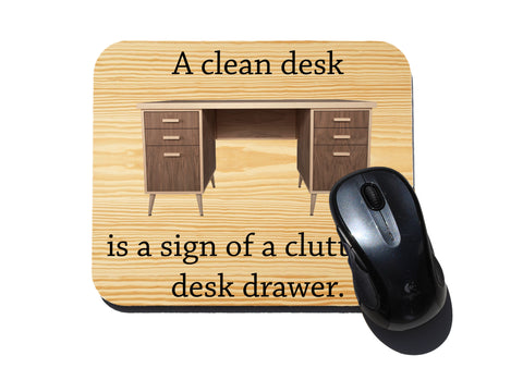 clean desk mouse pad