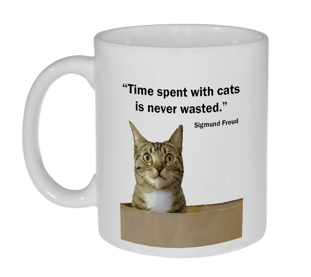 Sigmund Freud Cat Quote Coffee or Tea Mug