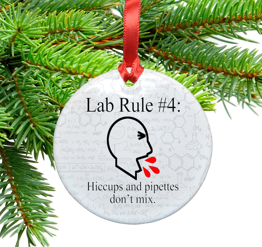 Lab Rule  4 Ceramic Christmas Tree Ornament