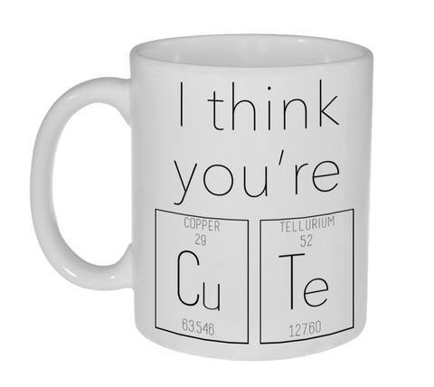 I Think You're Cute Valentine's Day Gift Coffee or Tea Mug