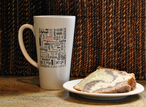 Mother Coffee or Tea Mug - Mother Written in Different Languages - Mother's Day Gift, Latte Size