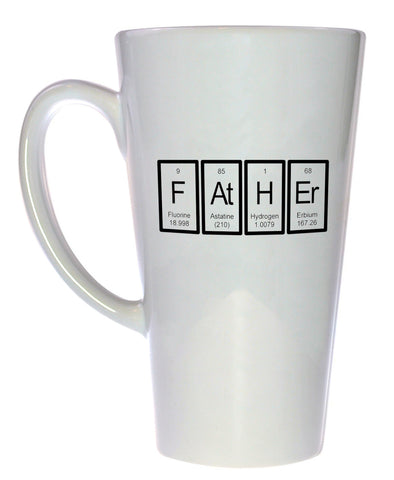 Father Periodic Table of Elements Coffee or Tea Mug, Latte Size