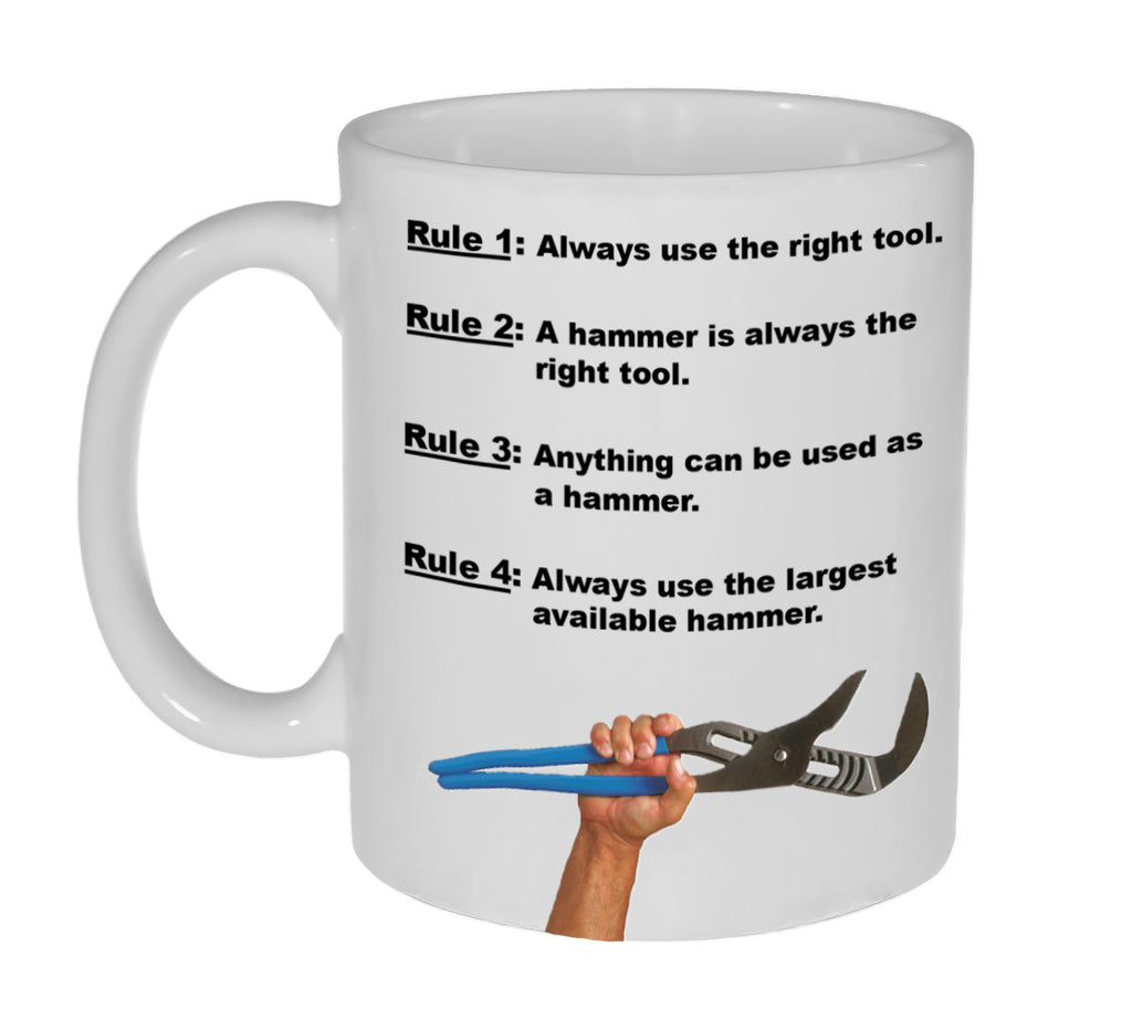 Always Use the RIght Tool  Coffee or Tea Mug - Coffee or Tea Mug