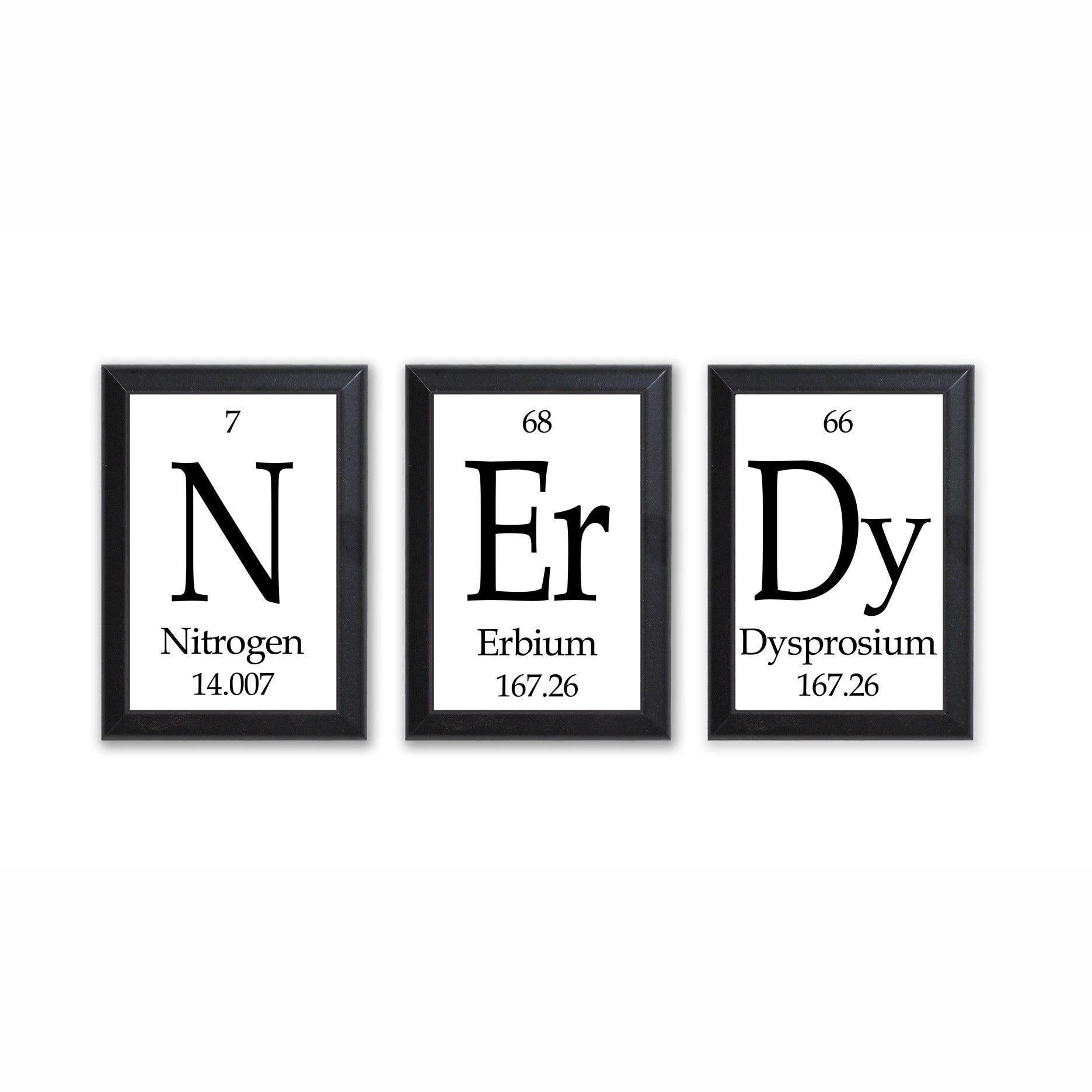 Nerdy periodic table framed 3 piece wall plaque set each plaque 5 nerdy periodic table framed 3 piece wall plaque set each plaque 5 x 7 gamestrikefo Gallery