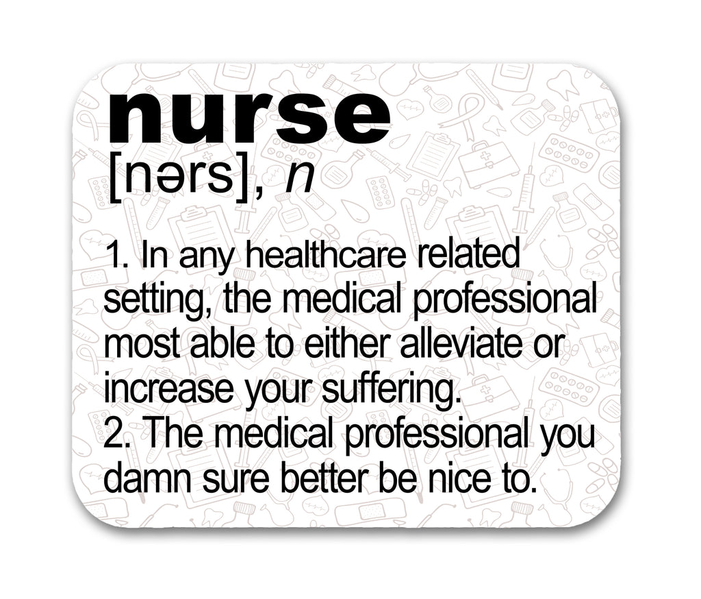 Nurse Definition Mouse Pad