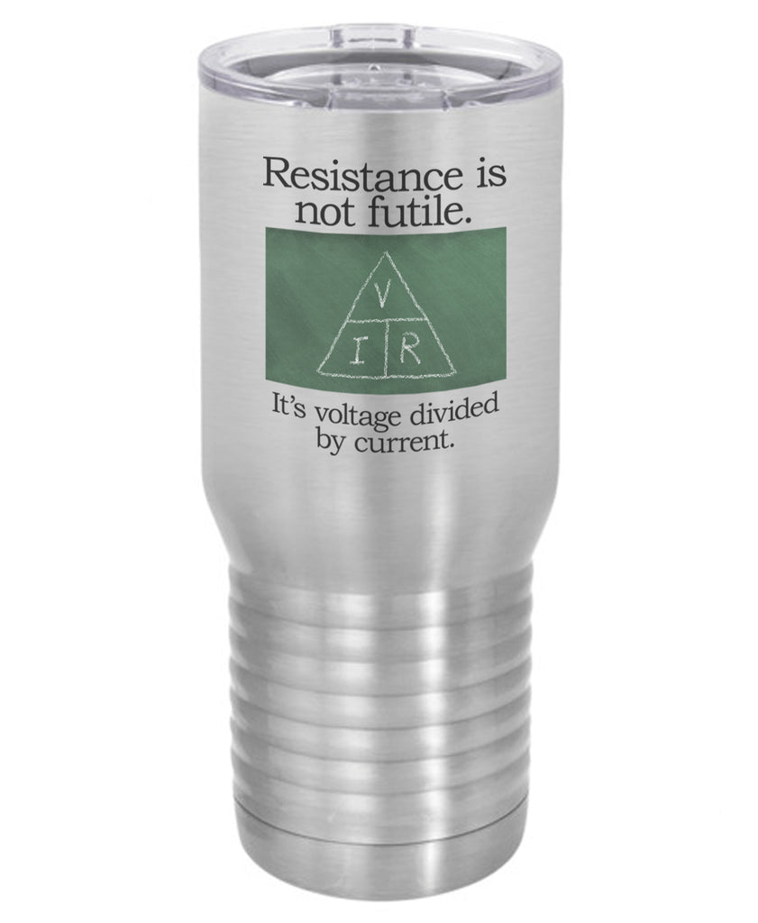 Silver Resistance is Not Futile Polar Camel Travel Mug- 20 ounce