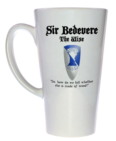 Sir Bedevere - Monty Python and the Holy Grail Coffee or Tea Mug, Latte Size
