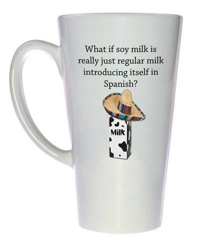 Soy Milk Spanish Introduction Coffee or Tea Mug, Latte Size