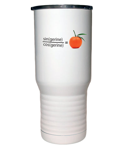 Tangerine Math Polar Camel White Travel Mug- 20 ounce