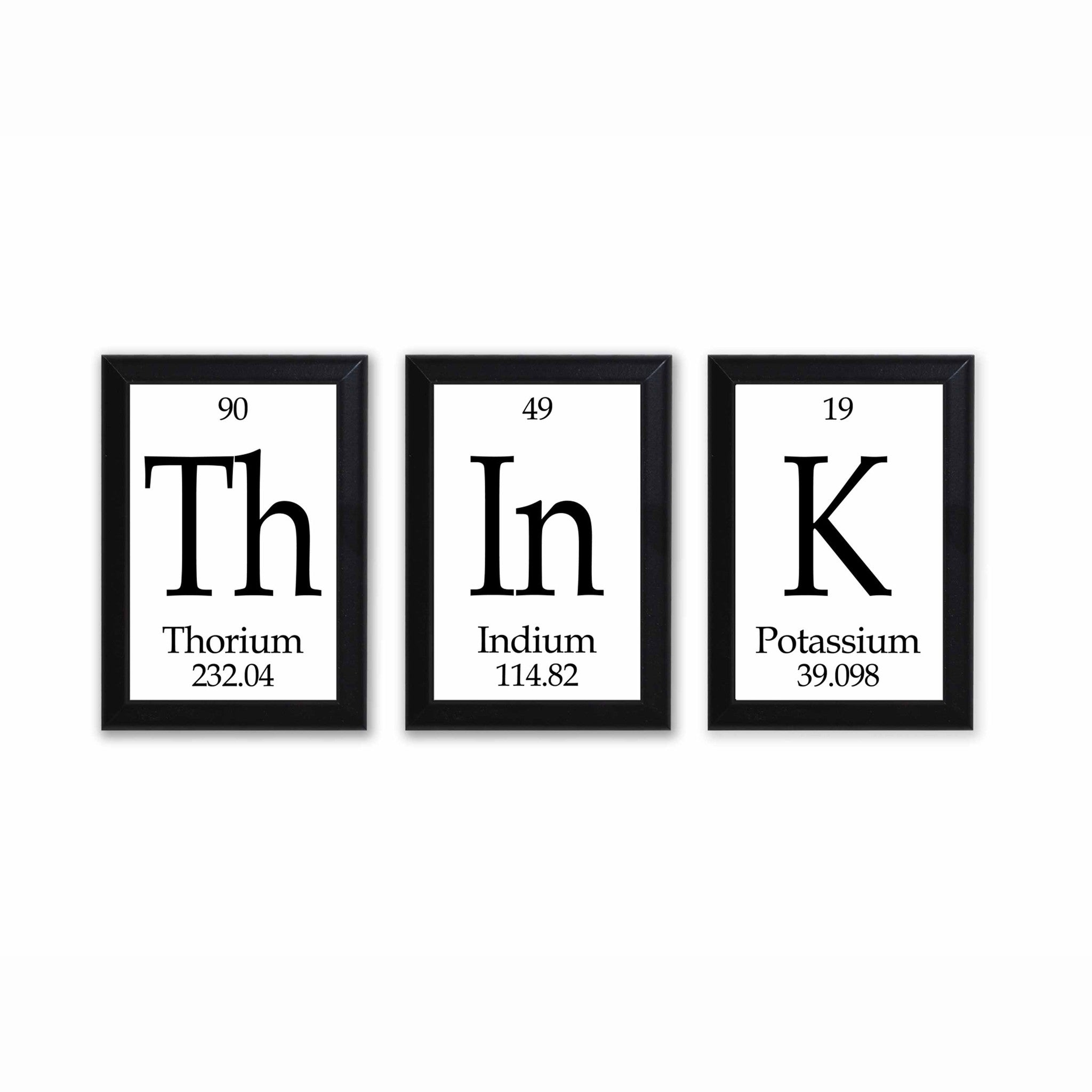 Think periodic table framed 3 piece wall plaque set neurons not think periodic table framed 3 piece wall plaque set gamestrikefo Gallery