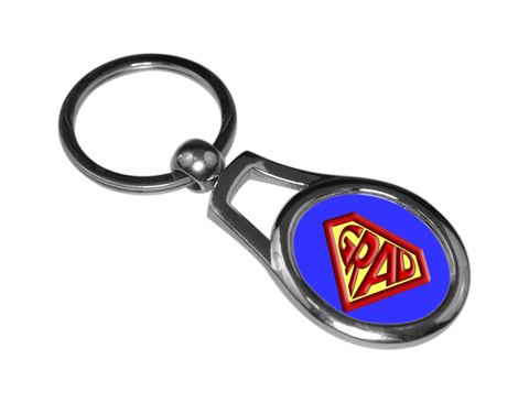 Super grad oval key chain ring
