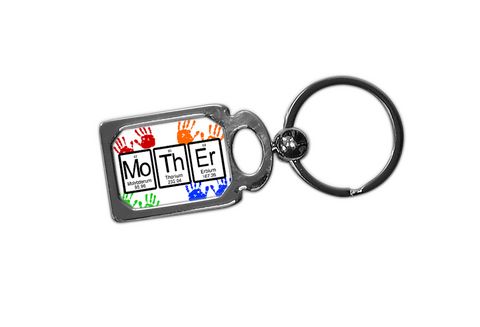 Mother Periodic Table of Elements Metal Key Chain