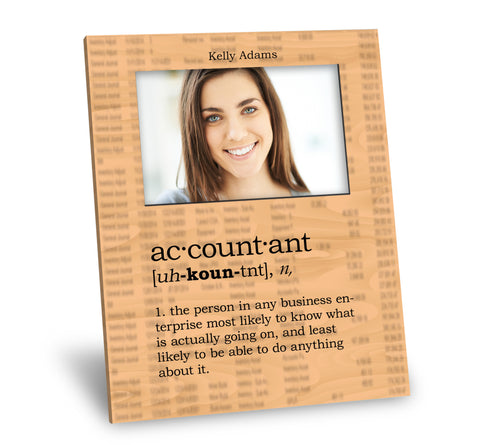 Accountant Definition Picture Frame