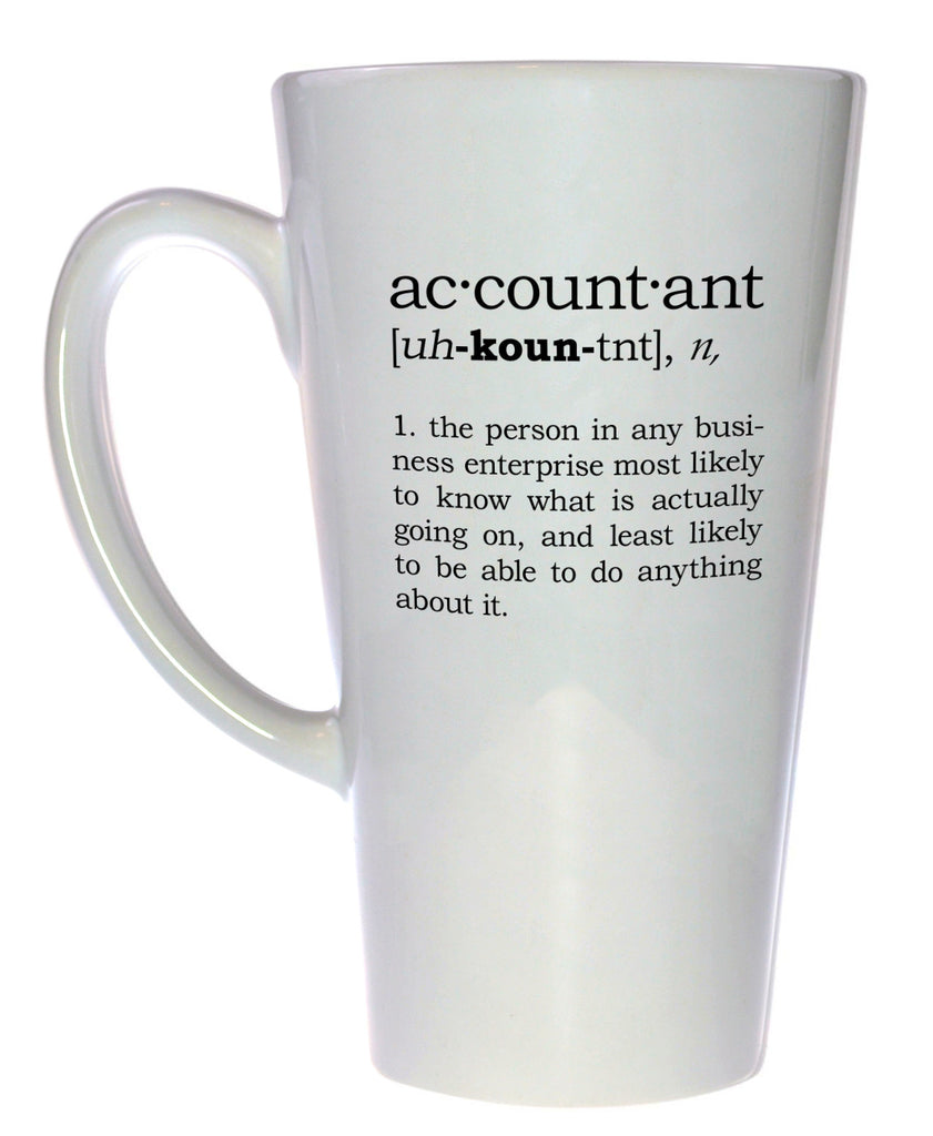Accountant Definition Tall Coffee or Tea Mug, Latte Size
