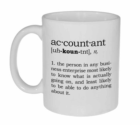 Accountant Definition Coffee or Tea Mug