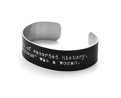 Anonymous Quote Aluminium Geekery Bracelet