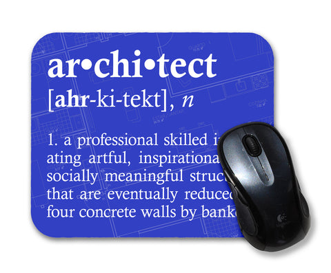 Architect Definition Funny Quote Mouse Pad