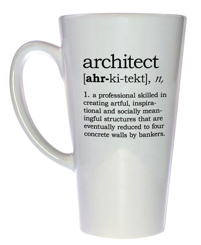 Architect Definition Tall Coffee or Tea Mug, Latte Size