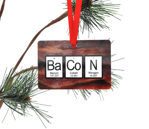 Bacon Periodic Table Christmas Ornament