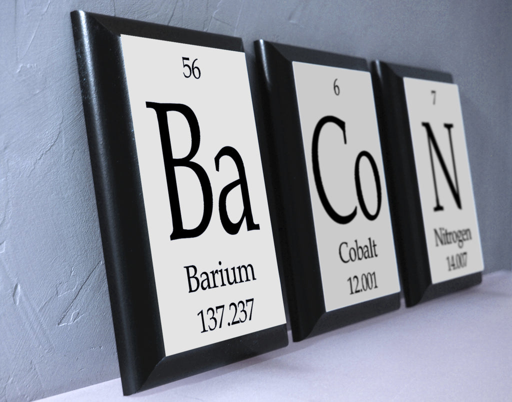 Bacon periodic table framed 3 piece wall plaque set each plaque 5 bacon periodic table framed 3 piece wall plaque set each plaque 5 x 7 gamestrikefo Gallery