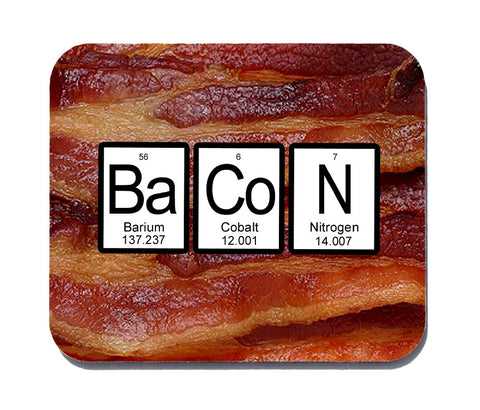 Bacon Periodic Table Mouse Pad