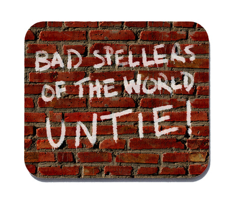 bad spellers untie mouse pad