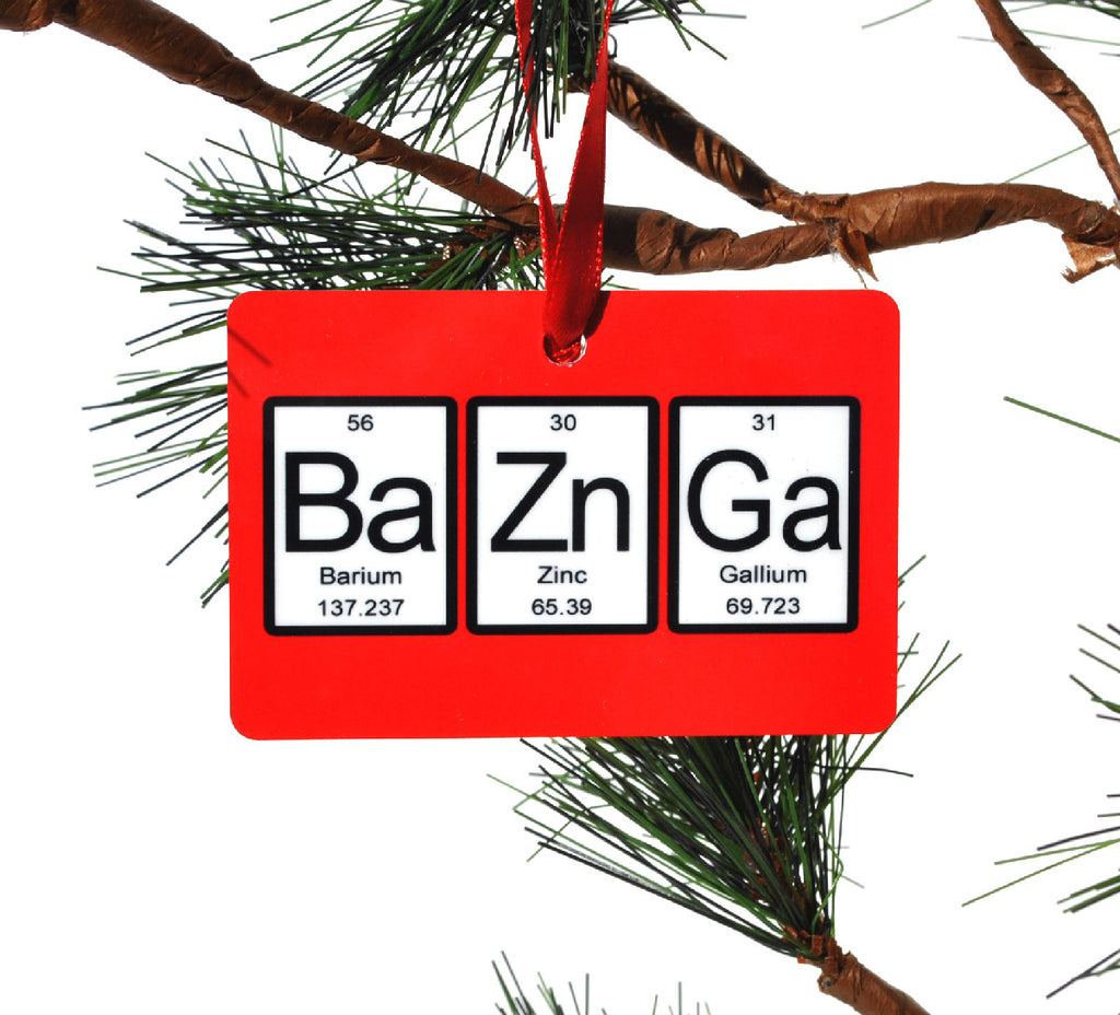 Bazinga Periodic Table of Elements Christmas Ornament