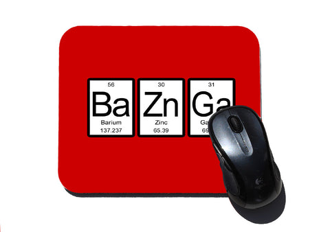 Bazinga Periodic Table Mouse Pad