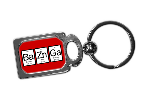 Bazinga Periodic Table Metal Key Chain