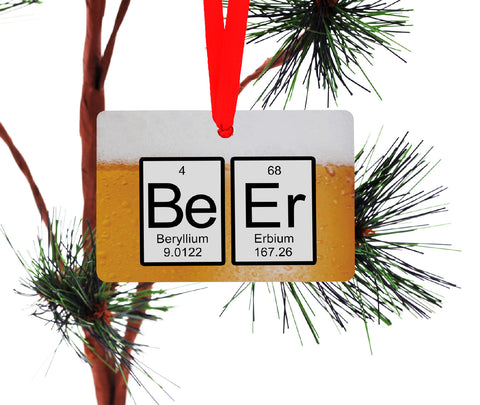 Beer Periodic Table Christmas Ornament