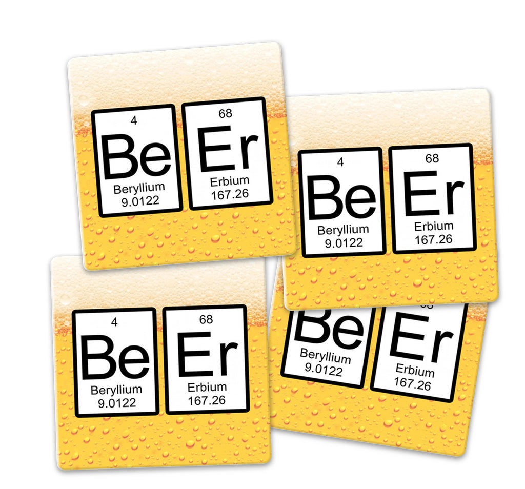 Beer periodic table of elements coaster set sandstone tile 4 beer periodic table of elements coaster set sandstone tile 4 piece set caddy included gamestrikefo Image collections