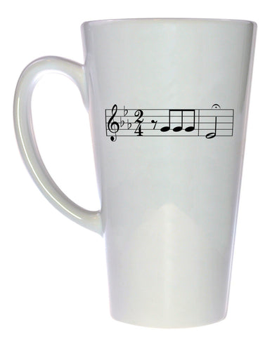 Beethoven Music Coffee or Tea Mug, Latte Size