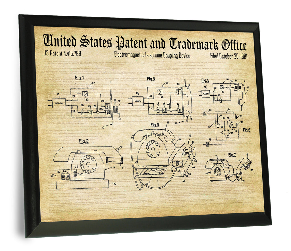 Acoustic Coupler Patent- Historic Technology Patents Series