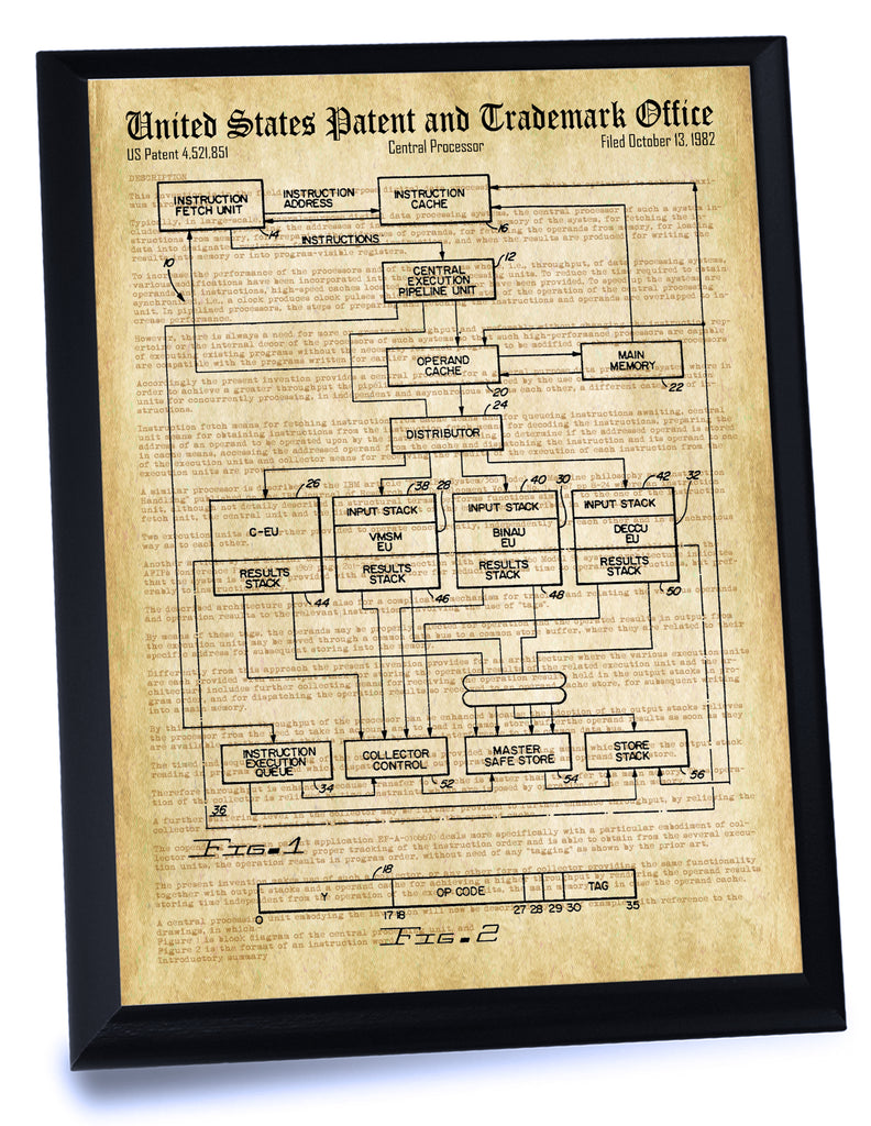 CPU Patent- Historic Technology Patents Series