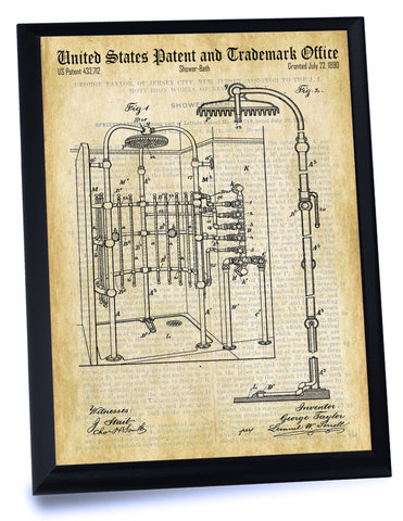 Shower Patent- Historic Bathroom Patents Series