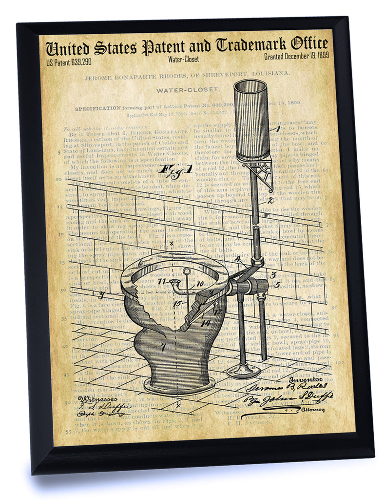 Toilet Water Closet Patent- Historic Bathroom Patents Series
