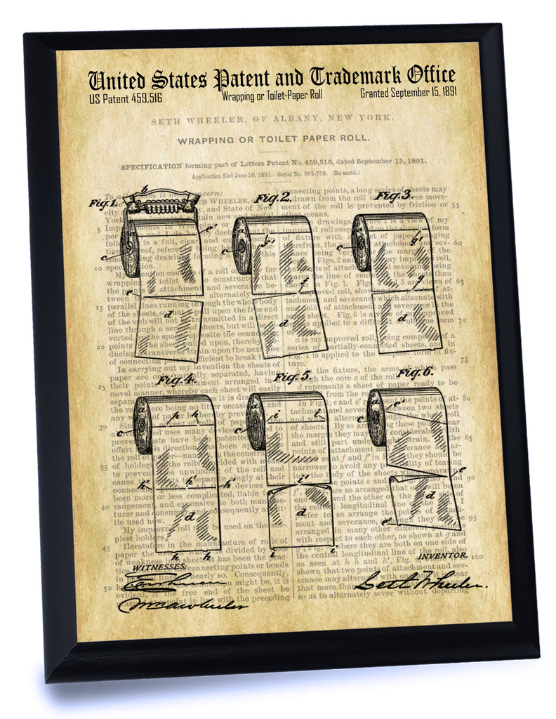 Toilet Paper Roll Patent- Historic Bathroom Patents Series