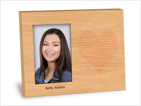 Binary Heart Picture Frame