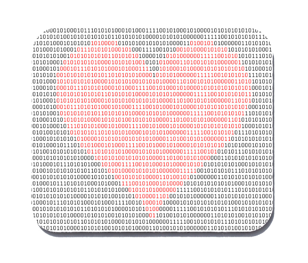 binary heart mouse pad